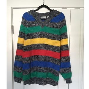 Vintage colorful oversized sweater